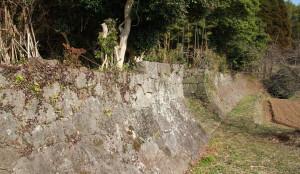 旧横田家跡の石垣
